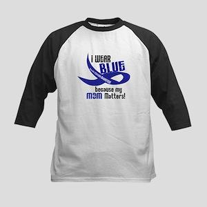 I Wear Blue For My Mom 33 CC Kids Baseball Jersey