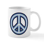 Blue Peace Symbol 11 oz Ceramic Mug