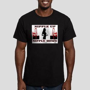 Nipple Up Nipple Down Men's Fitted T-Shirt (dark)