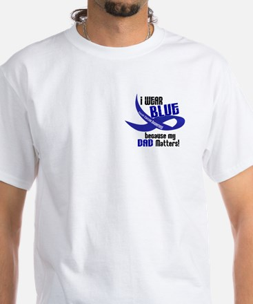I Wear Blue For My Dad 33 CC White T-Shirt