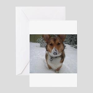 Winter Corgi Greeting Card