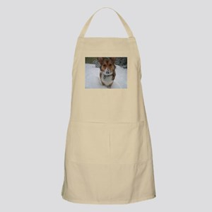 Winter Corgi BBQ Apron