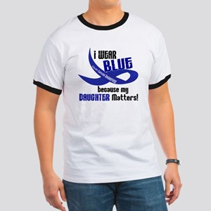I Wear Blue For My Daughter 33 CC Ringer T