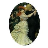 Renoir dance Oval Ornaments