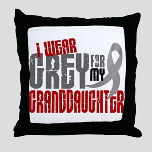 I Wear Grey For My Granddaughter 6 Throw Pillow
