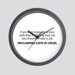 No Declawing Wall Clock