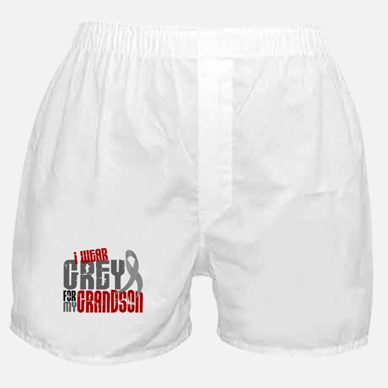 I Wear Grey For My Grandson 6 Boxer Shorts