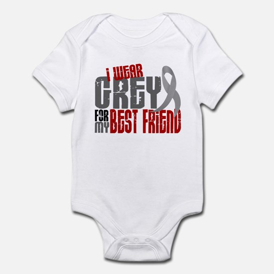 I Wear Grey For My Best Friend 6 Infant Bodysuit