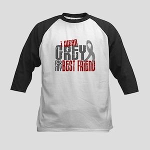 I Wear Grey For My Best Friend 6 Kids Baseball Jer