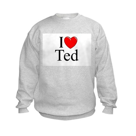 """I Love (Heart) Ted"" Kids Sweatshirt"
