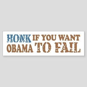 Anti Obama Honk & Fail Sticker (Bumper)
