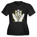 Faith & Light Women's Plus Size V-Neck Dark T-Shir
