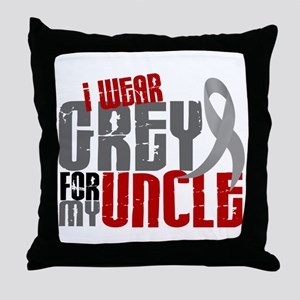 I Wear Grey For My Uncle 6 Throw Pillow