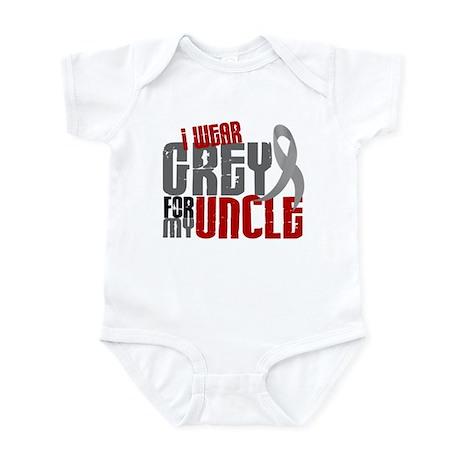 I Wear Grey For My Uncle 6 Infant Bodysuit