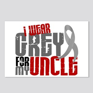 I Wear Grey For My Uncle 6 Postcards (Package of 8