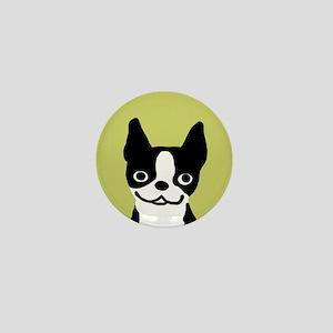 Boston Terrier Smile Mini Button