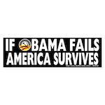 Anti-Obama Obama Fails America Survives Sticker