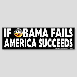 Obama Fails America Succeeds Sticker