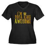 I'm Sofa King Awesome Women's Plus Size V-Neck Dar