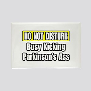 """Kicking Parkinson's Ass"" Rectangle Magnet"