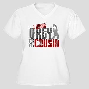 I Wear Grey For My Cousin 6 Women's Plus Size V-Ne