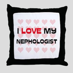 I Love My Nephologist Throw Pillow