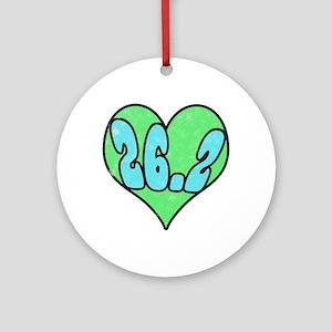 I heart 26.2 Ornament (Round)