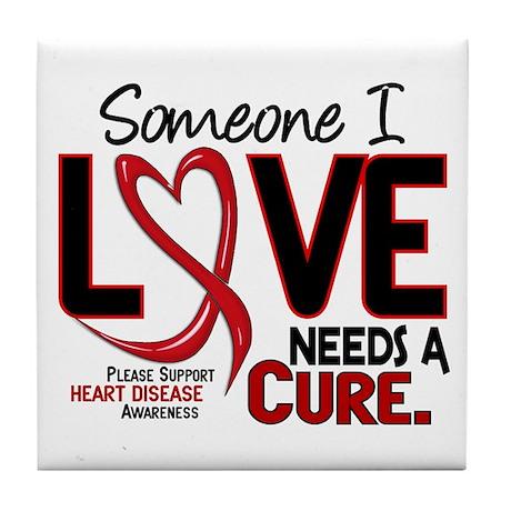 Needs A Cure Heart Disease Tile Coaster
