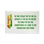 Inspiration and Humor Rectangle Magnet