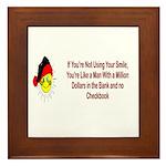 Inspiration and Humor Framed Tile