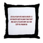 Inspiration and Humor Throw Pillow