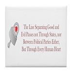Inspiration and Humor Tile Coaster