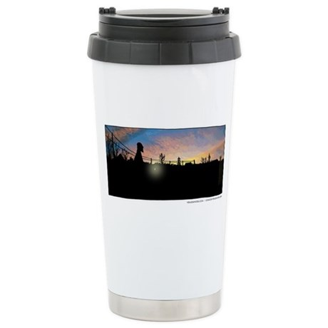 Yehuda Moon Logo Stainless Steel Travel Mug