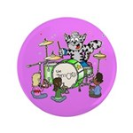 """The Jam Cats 3.5"""" Button"""