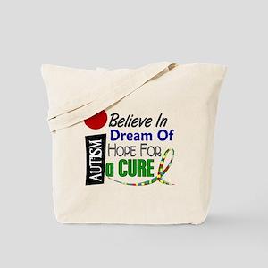 BELIEVE DREAM HOPE Autism Tote Bag