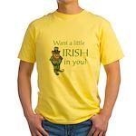 Want a little Irish in you? Yellow T-Shirt