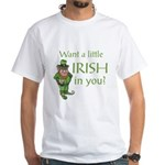Want a little Irish in you? White T-Shirt