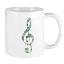 Green Notes Treble Clef Mug