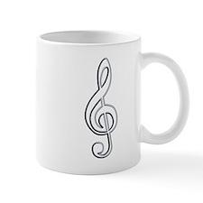 Silver Wire Treble Clef Mug