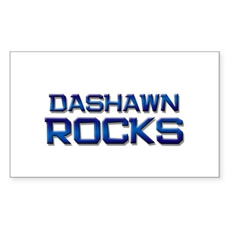 dashawn rocks Rectangle Sticker