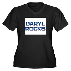daryl rocks Women's Plus Size V-Neck Dark T-Shirt