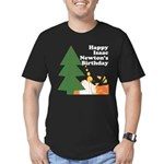Happy Isaac Newton Day Black T-Shirt