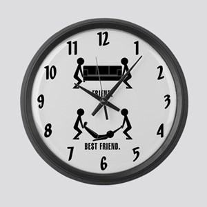 Best Friends Large Wall Clock