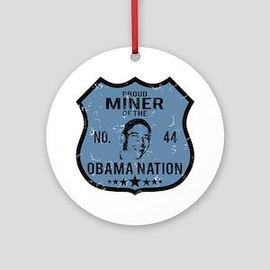 Miner Obama Nation Ornament (Round)