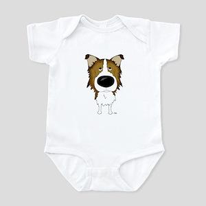 Big Nose Rough Collie Infant Bodysuit