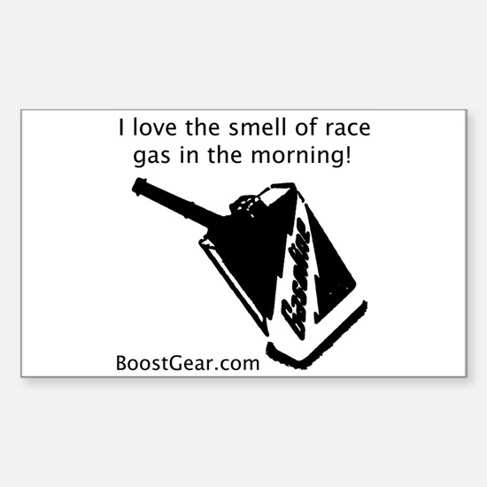 Love The Smell Of Race Gas - Rectangle Decal