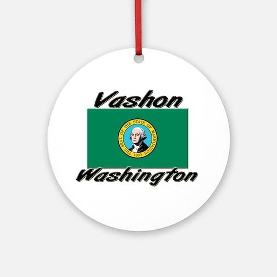 Vashon Washington Ornament (Round)