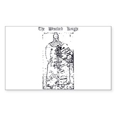 Westford Knight Rectangle Sticker 50 pk)