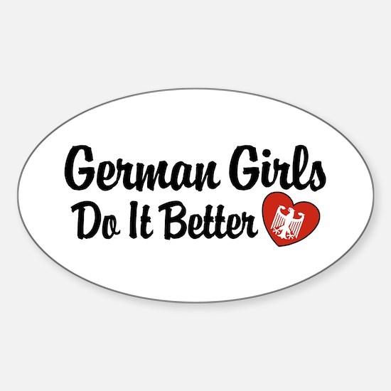 German Girls Do It Better Oval Decal