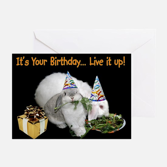 Lop Bunny Birthday Greeting Cards (Pk of 10)